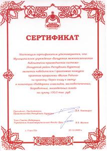 Сертификат по говорящей книге от малкина